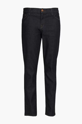 J BRAND Mid-rise faded slim-leg jeans