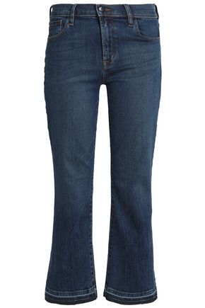 J BRAND Cropped mid-rise flared jeans