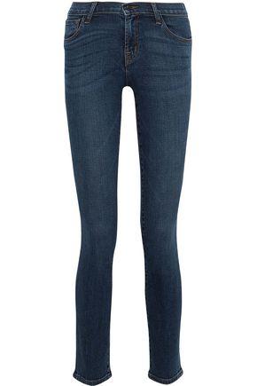 J BRAND Faded low-rise slim-leg jeans
