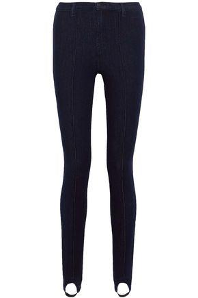 J BRAND Mid-rise skinny stirrup jeans