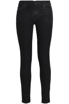 7 FOR ALL MANKIND Jacquard mid-rise skinny jeans