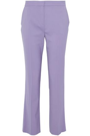 DIANE VON FURSTENBERG Wool-blend canvas bootcut pants