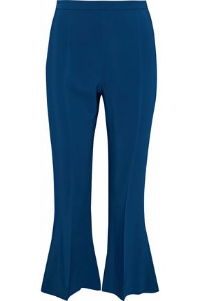 ANTONIO BERARDI Cropped crepe flared pants