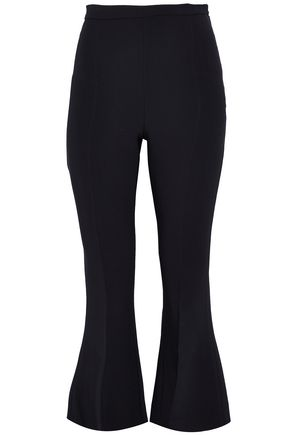 ANTONIO BERARDI Cropped stretch-crepe flared pants