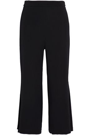 CUSHNIE ET OCHS Cropped crepe flared pants