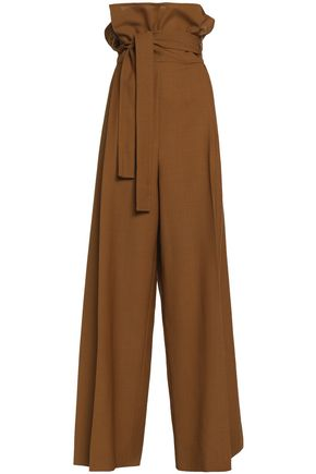 MARNI Belted wool-canvas wide-leg pants
