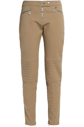 BELSTAFF Zip-detailed cotton-blend gabardine slim-leg pants