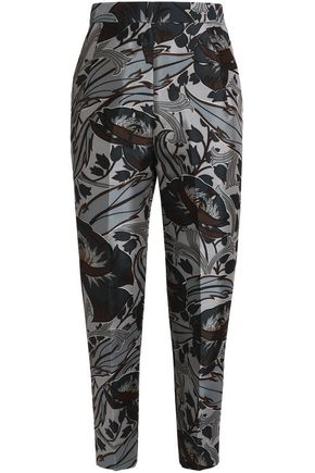 MARNI Floral-print cotton and silk-blend tapered pants
