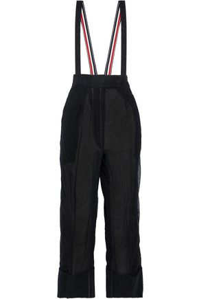 THOM BROWNE Suspender-detailed cotton-tulle wide-leg pants