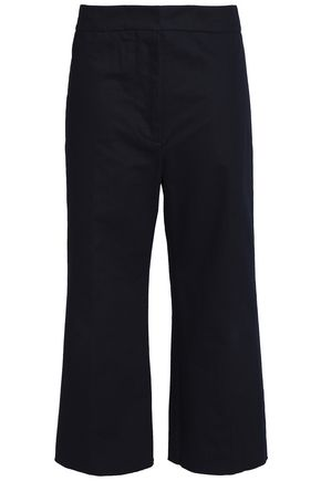 MARNI Pleated cotton and linen-blend twill wide-leg pants