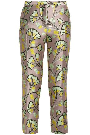 MARNI Metallic jacquard tapered pants