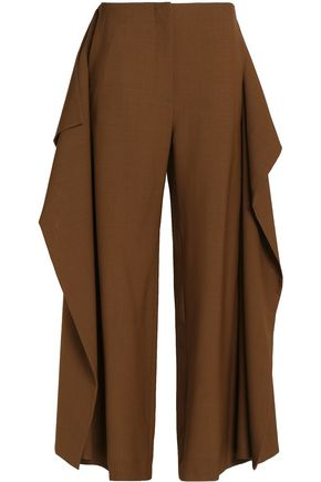 MARNI Draped wool straight-leg pants
