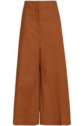 MARNI Wool and linen-blend wide-leg pants