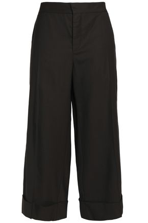 MARNI Cropped wool straight-leg pants