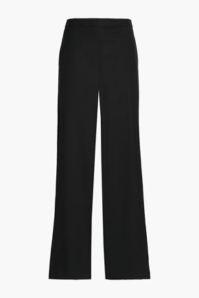 CHALAYAN Wool-crepe wide-leg pants
