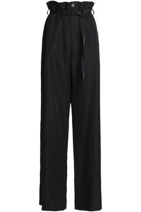 MAISON MARGIELA Belted cotton and silk-blend twill wide-leg pants