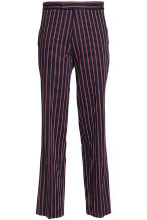 MAISON MARGIELA Striped cotton-twill straight-leg pants