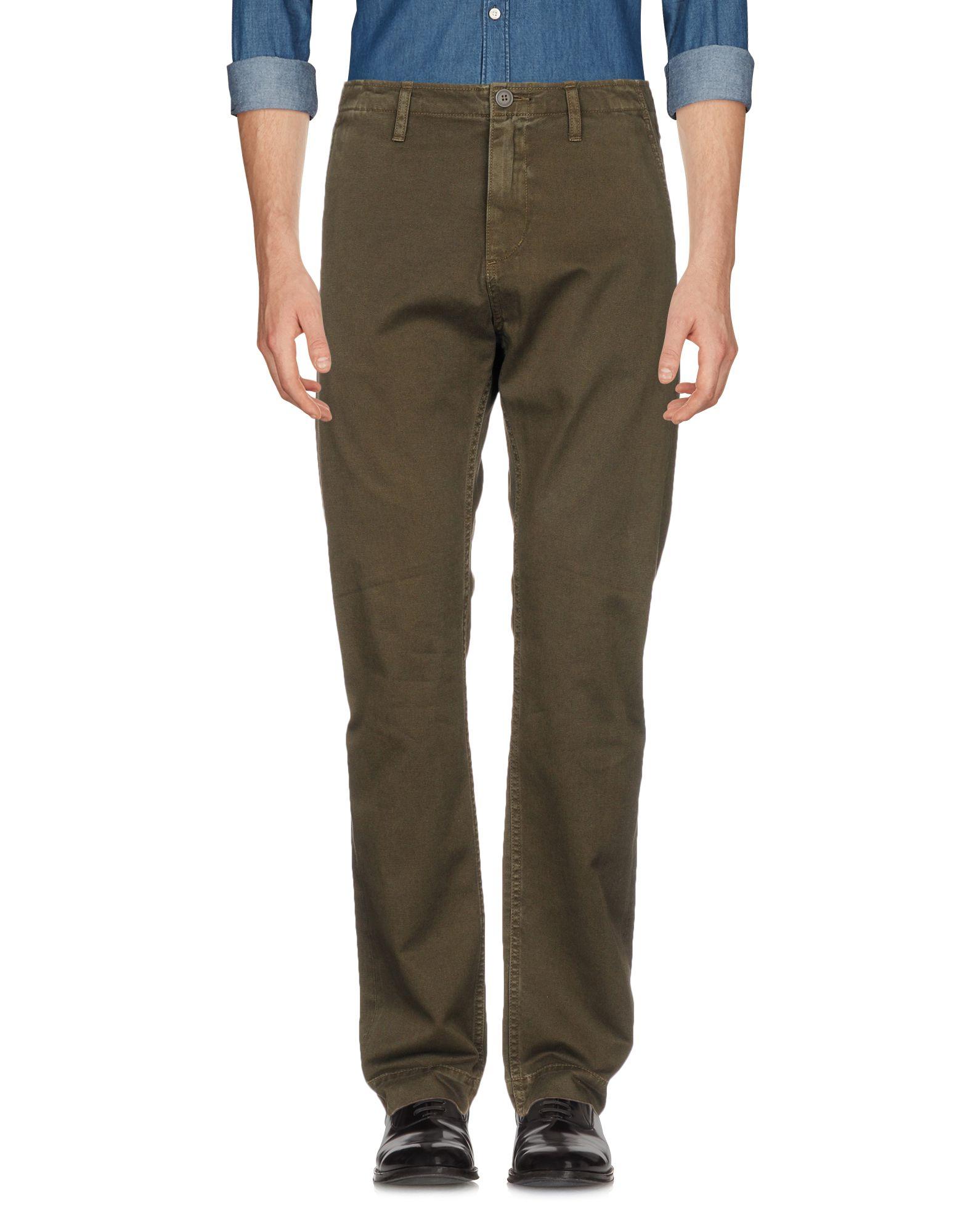 JEAN SHOP Casual Pants in Dark Green