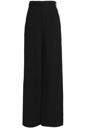 RICK OWENS Silk-crepe wide-leg pants