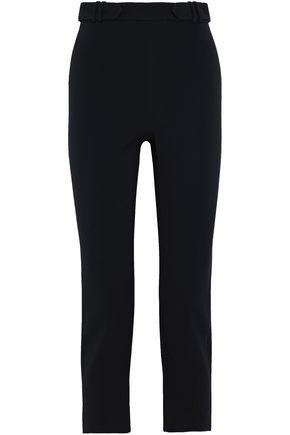 CUSHNIE Cropped crepe straight-leg pants