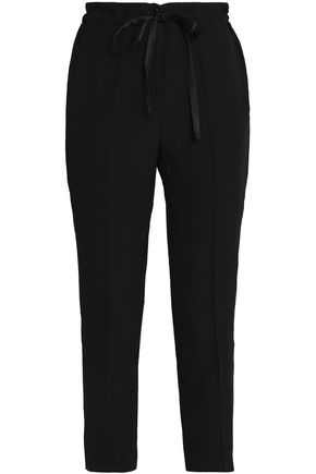 IRIS & INK Graham cropped crepe tapered pants