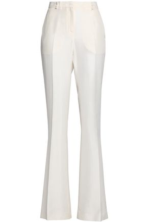 VIONNET Silk-shantung flared pants