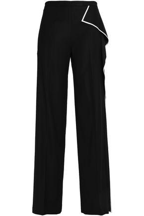 VIONNET Draped wool-blend wide-leg pants