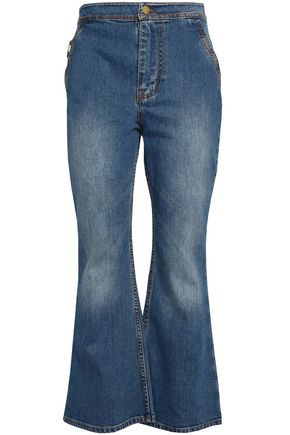 ELLERY Faded high-rise flared jeans