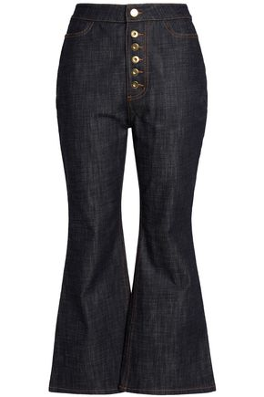 ELLERY High-rise kick-flare jeans