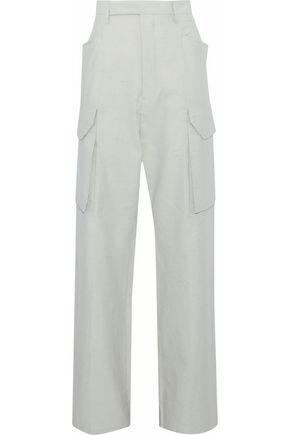 RICK OWENS Marled voile wide-leg pants