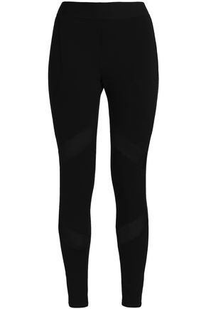 TART COLLECTIONS Mesh-paneled stretch-jersey leggings
