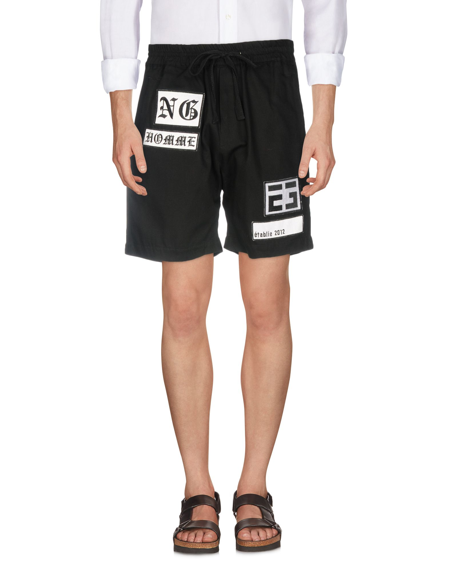 NOT GUILTY HOMME Shorts & Bermuda in Black