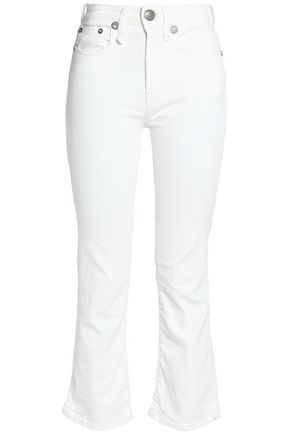R13 Cropped mid-rise slim-leg jeans