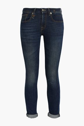 R13 Kate cropped mid-rise skinny jeans