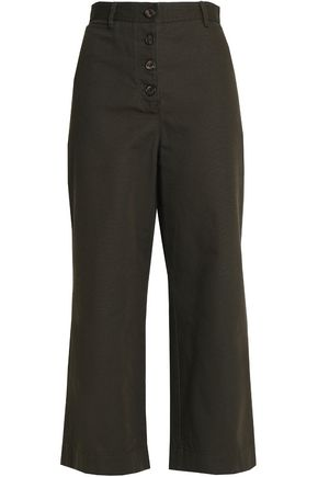 PROENZA SCHOULER Cotton-canvas wide-leg pants
