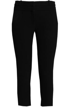 DION LEE Cropped wool-crepe skinny pants