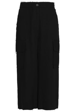 MM6 by MAISON MARGIELA Frayed woven culottes