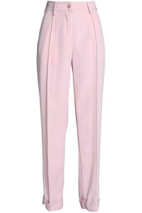 MM6 MAISON MARGIELA Pinstriped crepe straight-leg pants
