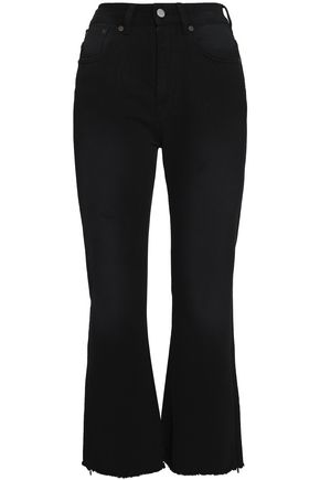 MM6 by MAISON MARGIELA Frayed high-rise flared jeans