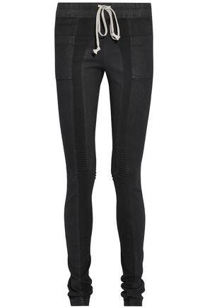 RICK OWENS Stretch knit-paneled skinny jeans