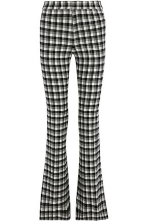 DEREK LAM 10 CROSBY Checked flannel flared pants