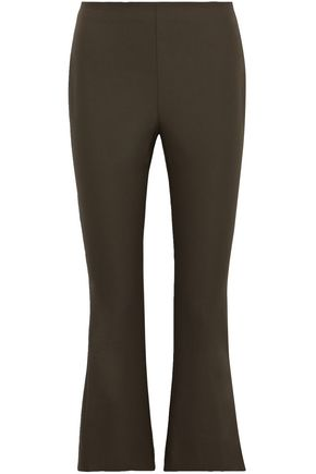 THEORY Stretch-cotton flared pants