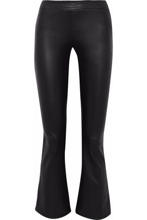 IRIS & INK Emery leather flared pants