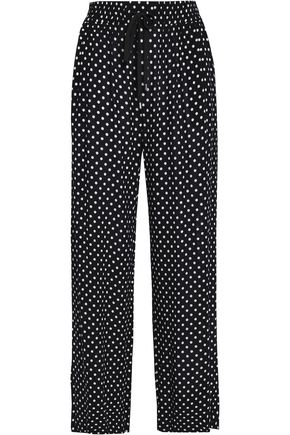 ZIMMERMANN Printed crepe wide-leg pants