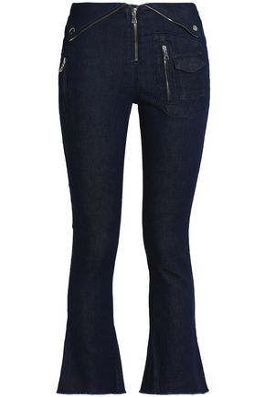 RTA Cropped mid-rise flared jeans