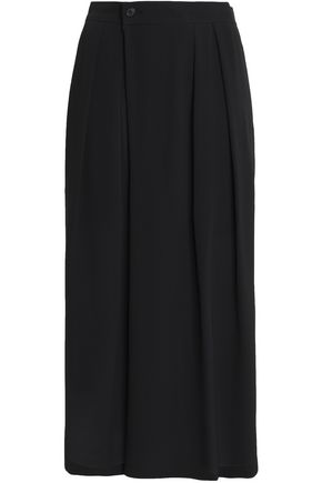 VINCE. Pleated silk-crepe culottes