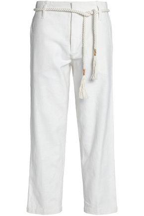 ANTIK BATIK Belted cotton-canvas straight-leg pants