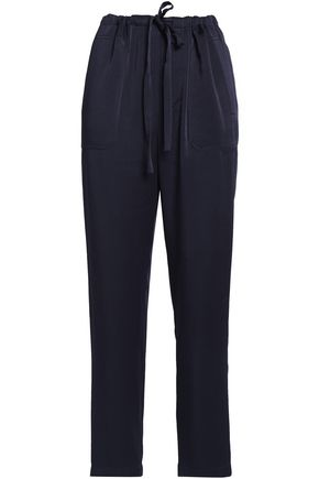 VINCE. Satin-crepe tapered pants