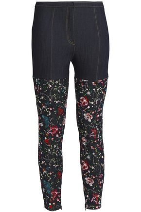 CINQ À SEPT Embroidered high-rise skinny jeans