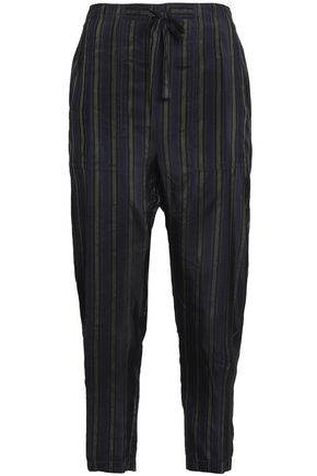 VINCE. Striped woven tapered pants